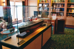 The SS United States Libary on board \'Norwegian Jade\'.