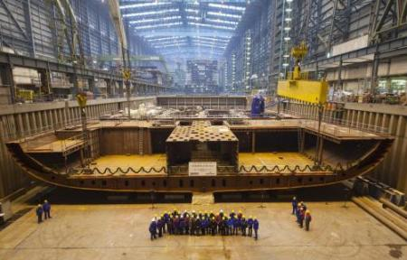 Meyer Werft Image: Anthem Keel Laying