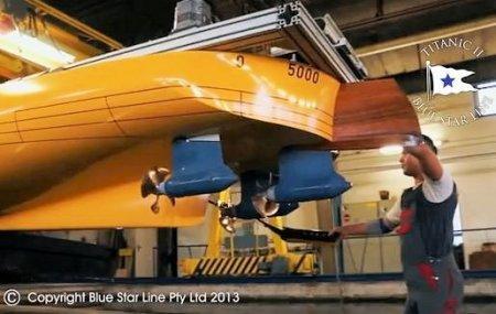 (Blue Star Line - Titanic II Tank Test)