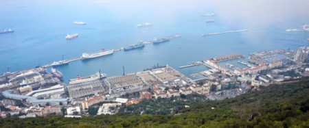 The harbour at Gibraltar.