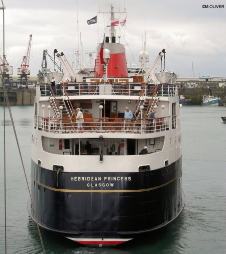Hebridean Princess, leaving Jersey harbour