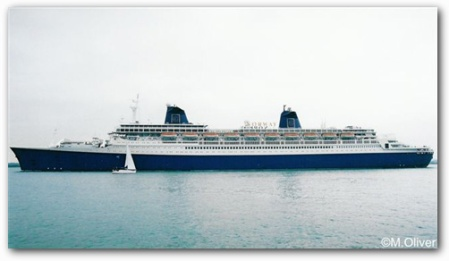SS Norway in Southampton waters 2001