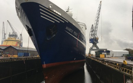 Marco Polo in dry-dock (All images CMV)